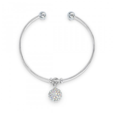 SO SEOUL Krissy Sphere Swarovski® Crystal Cuff Bangle